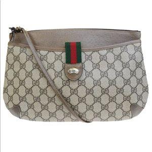 Gucci GG Supreme Ophidia Web Clutch